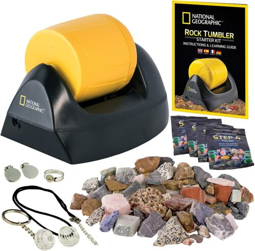 Rock Tumbler Polisher Machine Kit Smooth Stone Maker Gems Collector Kids Science