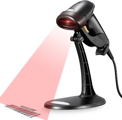 Barcode Scanner Wired Handheld Usb Retail Business Code Plug And Play Sale Stand