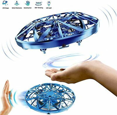Mini Drone Quad Induction Levitation UFO LED Light USB Charging Kids Gift Toy US