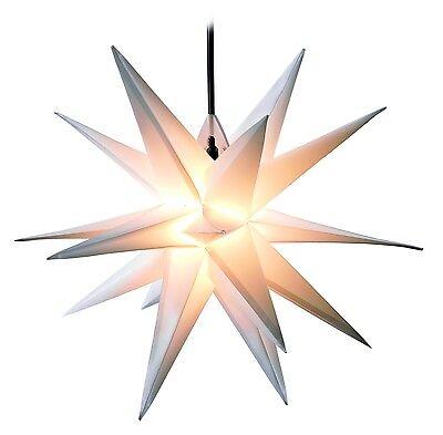 FALTSTERN weiß 3D XXL Weihnachtsstern Ø100cm Außenstern Adventsstern Leuchtstern