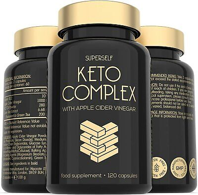 Keto Diet Pills with ACV MCT B12 - 120 Capsules Advanced Weight Loss Supplement