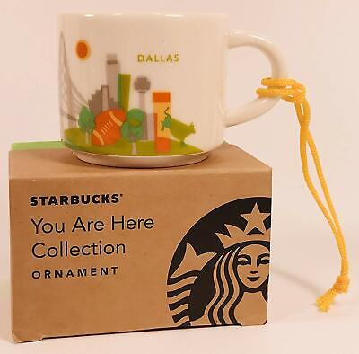 Starbucks Dallas You Are Here Collection Ceramic Coffee Mug Demitasse Ornament