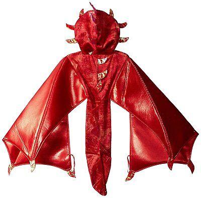 Dragon Costume Red & Orange Liam Hooded Wings Cape 2T 3T 4T 3 4 5 6 7 8 10 12 - Dragon Wing Kostüm