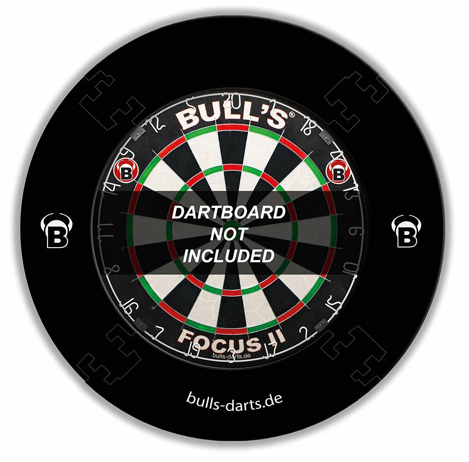 BULL'S schwarz Quarterback Eva Dart Board Surround