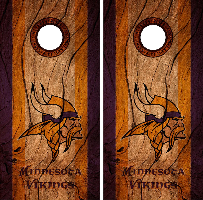minnesota vikings cornhole wrap nfl decal wood