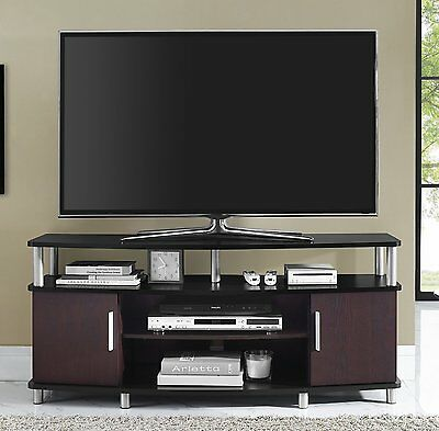 مكتبة تلفزيون جديد NEW TV Stand Entertainment Center Media Console Furniture Storage Wood Cabinet