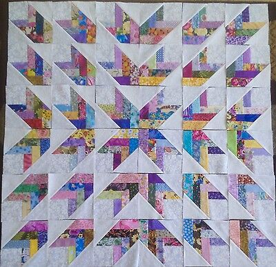 36 French Braid Quilt Blocks 100% Cotton made in USA