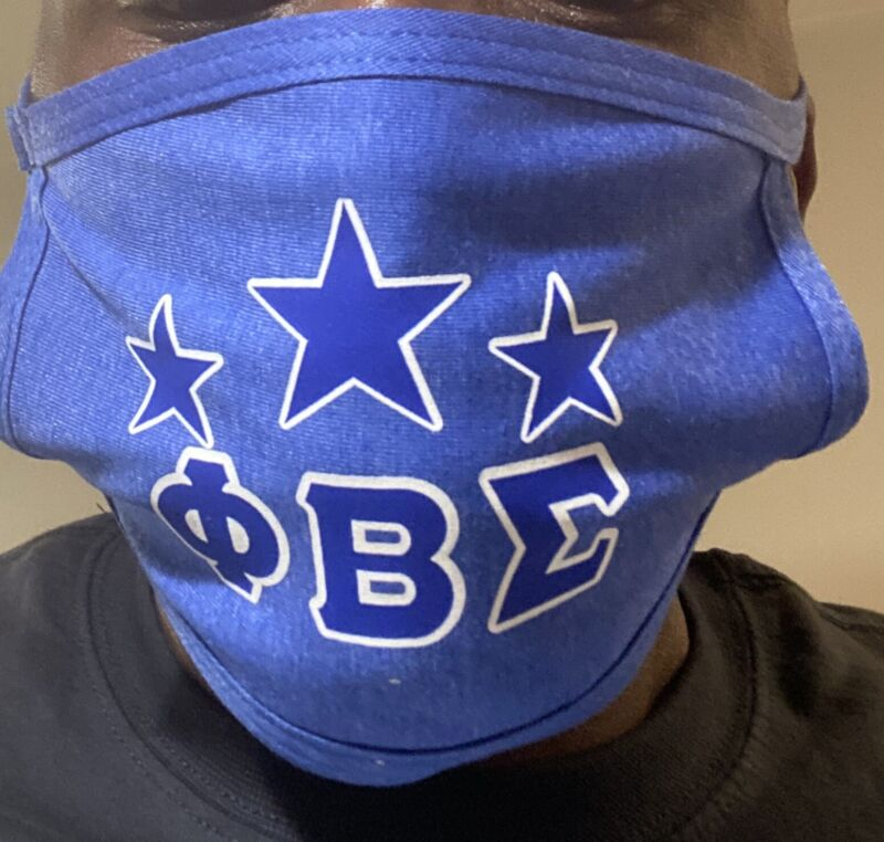 Phi Beta Sigma Protective Mask New Free Shipping Blue