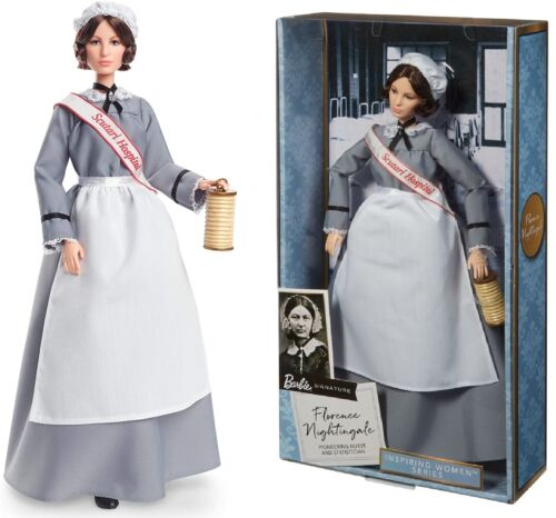 Barbie Inspiring Women Series Florence Nightingale Collectible Nurse Doll New