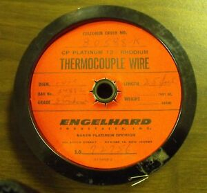 Platinum 13% Rhodium Thermocouple Wire .02 sold by inch