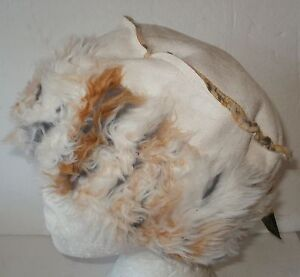 LADIES-FAUX-SUEDE-HAT-COSSACK-STYLE-FAUX-FUR-TRIM-BLACK-BROWN-OR-OFF-WHITE-58CM