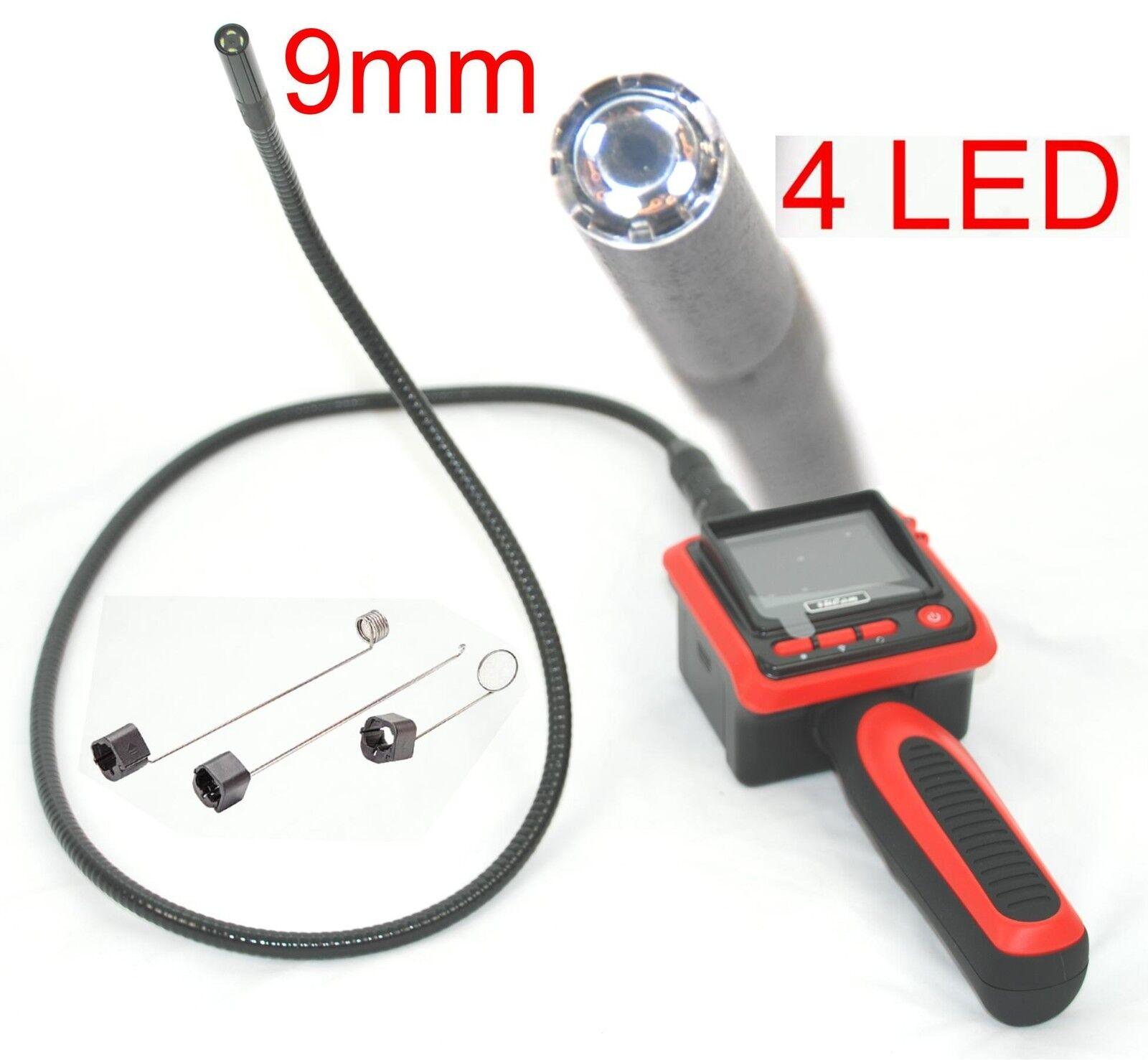 9mm Inspection Camera Monitor Video Borescope Endoscope