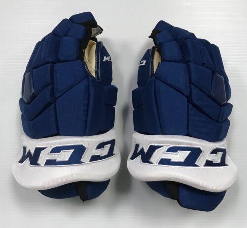 "Pro stock CCM  TK PRO SR 15"" (1 pair hockey gloves) Toronto Maple Leafs Blue"