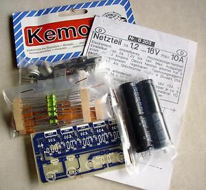 Bausatz Netzteil ca. 1,2 ... 18V max 10A - Kemo-Electronic
