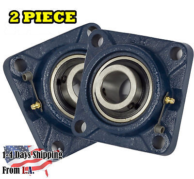 Ucf206-20 Pillow Block Flange Bearing 1-14 Bore 4 Bolt Solid Base 2pcs