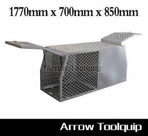 1770x700x850mm Aluminium Toolbox Dog Cage/Tool Box Ute 2.5mm Hallam Casey Area Preview