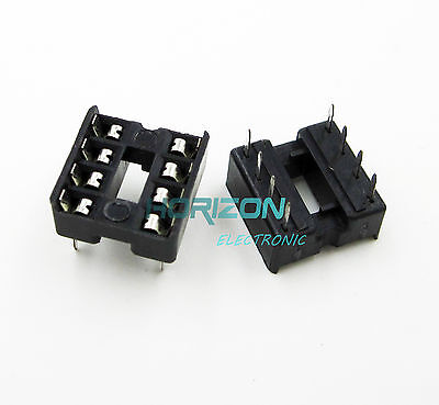 100pcs 8 Pin Dip8 Integrated Circuit Ic Sockets Adaptor Solder Type
