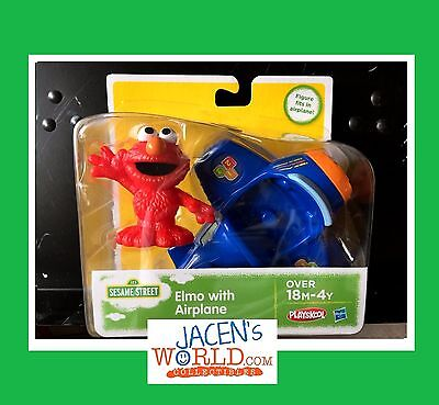 Elmo with Airplane Sesame Street Plane and Action Figures Toy Playskool