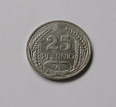 KAISERREICH: 25 Pfennig 1911 A, J. 18, fast stempelglanz