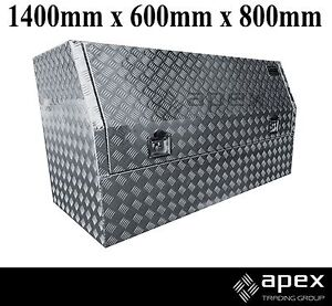 NEW APEX ALUMINIUM CHECKER PLATE TOOL BOX TOOLBOX FOR UTE 1468HR Chipping Norton Liverpool Area Preview