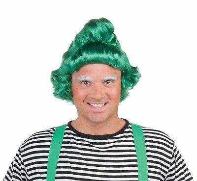 Adult Green Elf Oompa Loompa Christmas Costume Wig