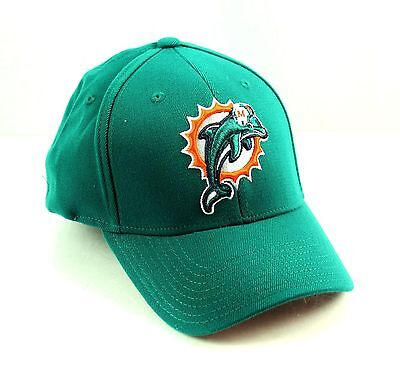 MIAMI DOLPHINS Green Basic Logo Flex Hat Cap NFL Team Apparel Green Basic Logo Hat