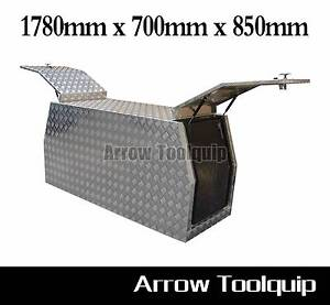 1780x700x850mm Aluminium Tool Box Gullwing Canopy Toolbox 2.5 mm Hallam Casey Area Preview