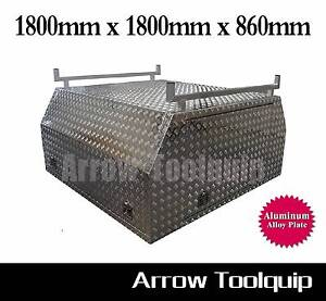 1800x1800x860mm Aluminum Alloy Dual Cab Full Cover Canopy Toolbox Hallam Casey Area Preview