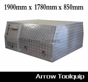 1900x1780x850mm Aluminium Toolbox Canopy & Dog Cage Toolbox Hallam Casey Area Preview
