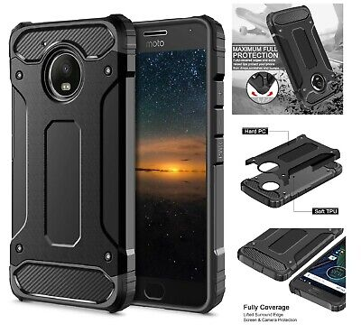 Heavy Duty Shockproof Rugged Bumper Hybrid Armor Case For Motorola C G4 G5 G6 E5