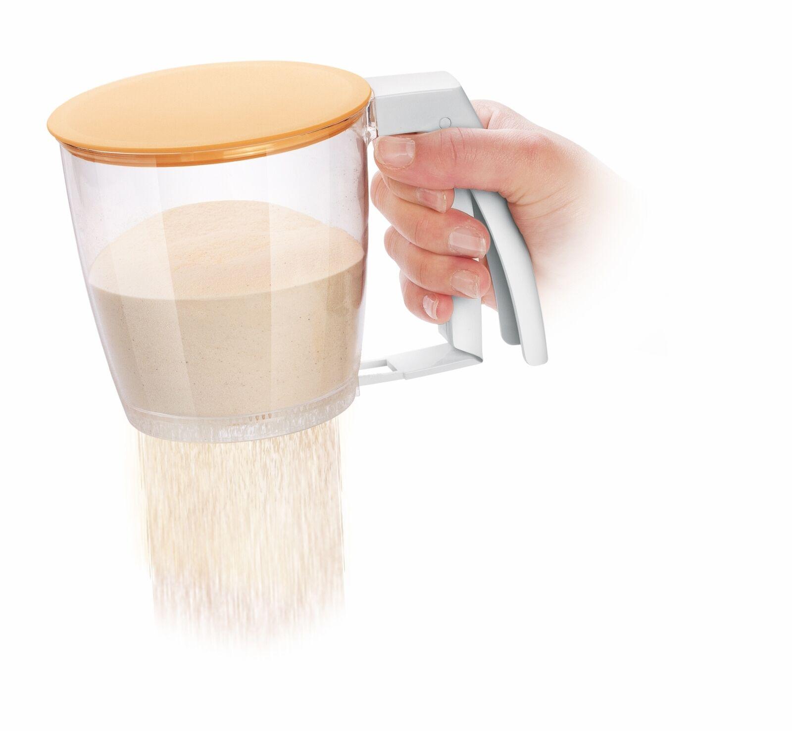 Tescoma mechanisches Mehlsieb Backsieb Kochsieb Sieb aus Kunststoff BPA Frei
