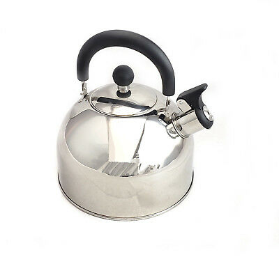Classic Stainless Steel Whistling Tea Kettle 2.5qt