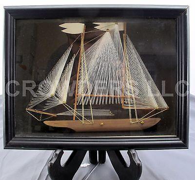 3D Wooden Sailboat Nail-String Art Sails 13.25
