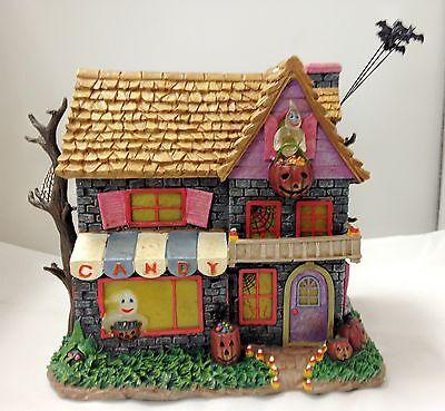 Hundred Acre Candy Shop - Poohs Hundred Acre Halloween Village Bradford Figurine ()