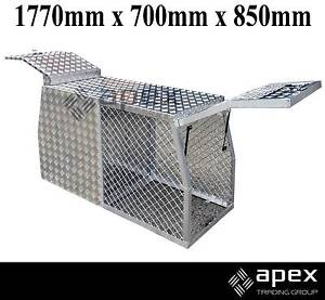 NEW APEX ALUMINIUM DOG CAGE TOOL BOX TOOLBOX FOR UTE HUNTING 4X4 Chipping Norton Liverpool Area Preview