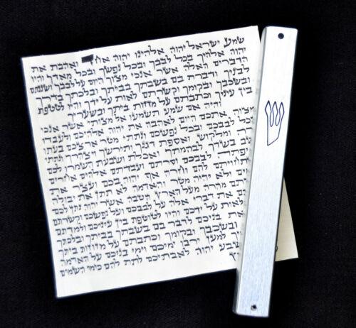 "Kosher Scroll Parchment Klaf 4""/10cm israel + Metal Mezuzah case judaica Jewish"