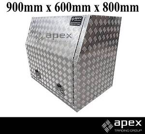 APEX NEW ALUMINIUM CHECKER PLATE TOOL BOX TOOLBOX FOR UTE 968FR Chipping Norton Liverpool Area Preview