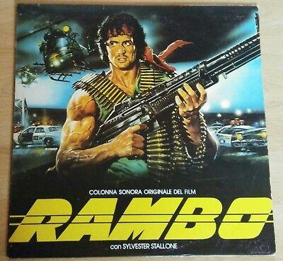 Rambo First Blood LP Vinyl Album 1983 Italien Movie Soundtrack OST Filmmusik