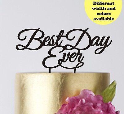 Wedding Cake Topper Best Day Ever Birthday Cake toppers decor (Best Wedding Cake Toppers Ever)