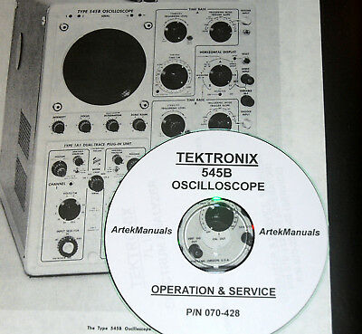 Tektronix Instruction Operating Service Manual For The 545b Oscilloscope