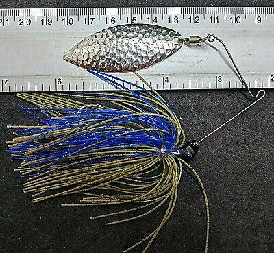 Kajun Boss 3//8 oz Black//Blue//Chartreuse Spinner bait colorado//willow