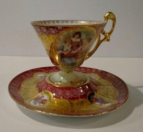Excellent Erdmann Schlegelmilch DEMITASSE ~ Heavy Gold Gilt ~ Ca. 1891-1900