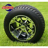 """GOLF CART 10"""" STORM TROOPER WHEELS and 205/50-10 DOT LOW PROFILE TIRES (4)"""
