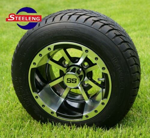 GOLF CART 10 STORM TROOPER WHEELS and 205/50-10 DOT LOW PROFILE TIRES