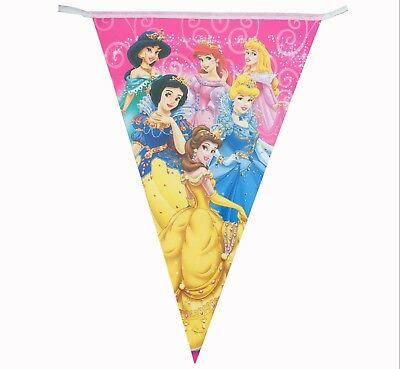 Disney Six Princess Banner Kids Birthday Party Decoration 2.5m 10 Flags ()