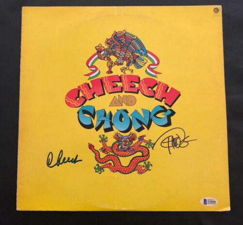 CHEECH AND CHONG SIGNED ALBUM VINYL LP AUTOGRAPH BECKETT BAS COA 4