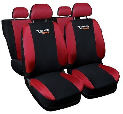 Universal Auto Sitzbezüge Sitzbezug Schonbezüge Tuning Rot Komplettset Top