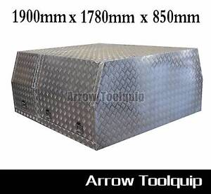 1900x1780x850mm Aluminium Gullwing Canopy Toolbox Hallam Casey Area Preview