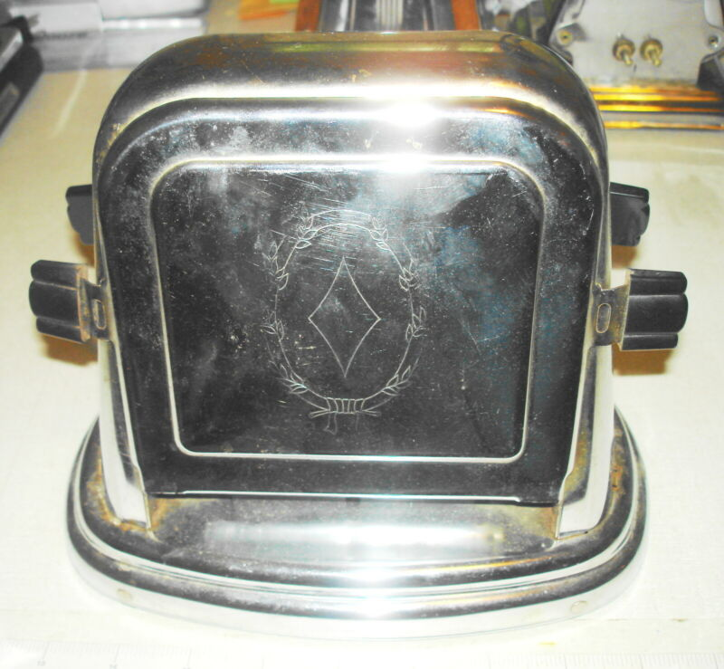 Antique Vintage ELECTRIC TOASTER - BERSTED Flip Side McGraw Elec Co Boonville MO