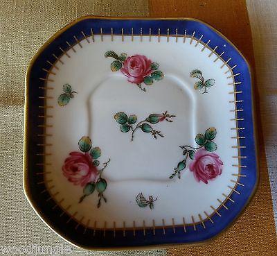 RARE RICHARD GINORY ITALY ROSA PRINCIPESSA PINK ROSE DEMITASSE UNDER PLATE